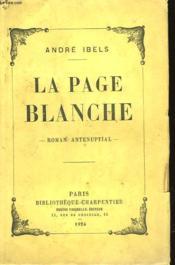 La Page Blanche - Couverture - Format classique