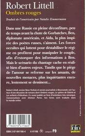 Ombres rouges - 4ème de couverture - Format classique