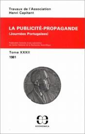 Travaux de l'association Henri Capitant t.32 ; la publicite-propagande ; journees portugaises ; t.32 ; 1981 - Couverture - Format classique