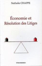 Economie et resolution des litiges - Couverture - Format classique