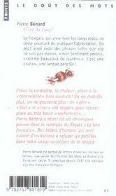 C'est la cata ! - 4ème de couverture - Format classique