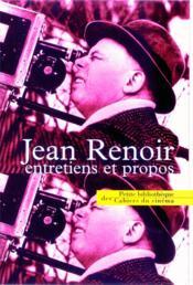 Jean Renoir, entretiens et propos - Couverture - Format classique