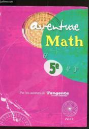 Aventure math 5 e - Couverture - Format classique