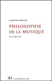Philosophie de la musique ; vers un opéra social - Couverture - Format classique