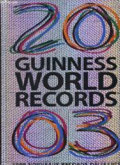 Guinness World Records 2003 - Couverture - Format classique
