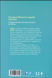 Pourquoi Sherlock s'appelle Sherlock - 4ème de couverture - Format classique