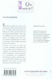 Le bouddhisme (2e édition) - 4ème de couverture - Format classique