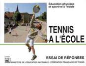 Tennis à l'école - Couverture - Format classique