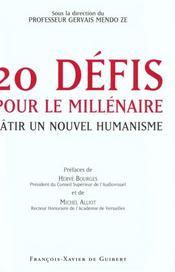20 defis pour le millenaire - Intérieur - Format classique