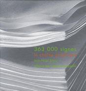 363 000 signes ; la chaîne graphique - Couverture - Format classique