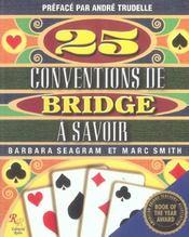 25 conventions de bridge a savoir ; manuel sur le jeu du bridge - Intérieur - Format classique