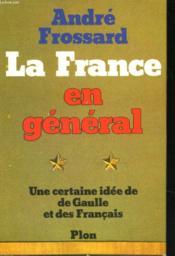 La France en général - Couverture - Format classique