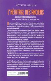 Le cinquieme anneau, tome 3 - 4ème de couverture - Format classique