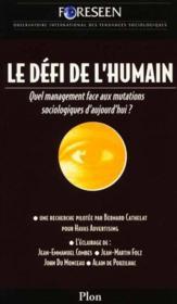Le Defi De L'Humanite - Couverture - Format classique