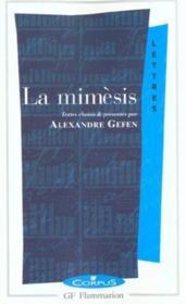La mimésis ; la représentation littéraire - Couverture - Format classique