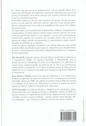 Theorie Des Processus De Communications - 4ème de couverture - Format classique