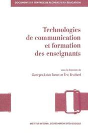 Technologies de communication et formation des enseignants - Couverture - Format classique