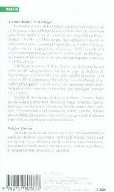 La méthode t.6 ; éthique - 4ème de couverture - Format classique
