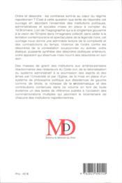 Ordre Et Desordre Dans Le Systeme Napoleonien - 4ème de couverture - Format classique