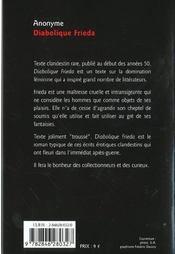 Diabolique frieda - 4ème de couverture - Format classique