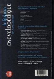Le Robert Encyclopedique Des Noms Propres (Edition 2008) - 4ème de couverture - Format classique