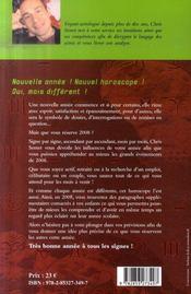 Horoscope (edition 2008) - 4ème de couverture - Format classique