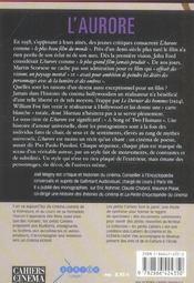 L'aurore de Murnau - 4ème de couverture - Format classique