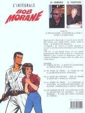 Bob Morane ; intégrale t.3 ; la piste de l'ivoire ; mystère zone Z - 4ème de couverture - Format classique