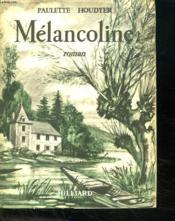 Melancoline. - Couverture - Format classique