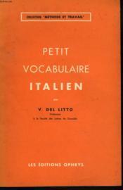 Petit Vocabulaire Italien - Couverture - Format classique