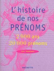 L'Histoire De Nos Prenoms - Intérieur - Format classique