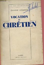 Vocation Du Chretien - Couverture - Format classique