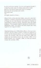 Chant D'Ortie - 4ème de couverture - Format classique