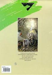 Le prince des écureuils t.1 - 4ème de couverture - Format classique