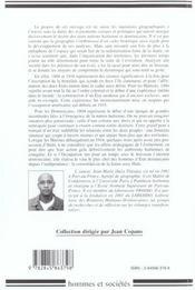 Haiti Republique Dominicaine-Une Ile Pour Deux (1804-1916) - 4ème de couverture - Format classique