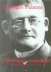 Chroniques completes t.1 ; mercure de france, 1911-1923 - Intérieur - Format classique