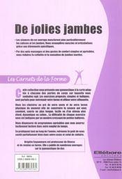 Jolies Jambes - Carnets De La Forme - 4ème de couverture - Format classique