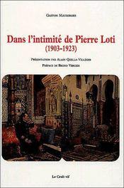 Dans l'intimité de Pierre Loti (1903-1923) - Couverture - Format classique