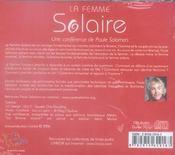 La femme solaire - 4ème de couverture - Format classique