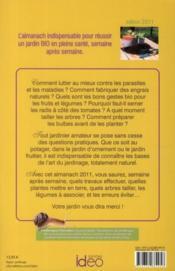 L'almanach bio du jardinier 2011 - 4ème de couverture - Format classique