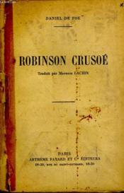 Robinson Crusoe. - Couverture - Format classique