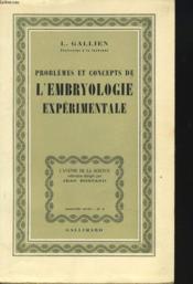 Problemes Et Concepts De L'Embryologie Experimentale - Couverture - Format classique