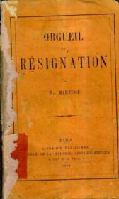 Orgueil Et Resignation. - Couverture - Format classique