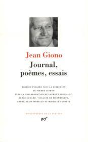 Journal, poèmes, essais - Couverture - Format classique