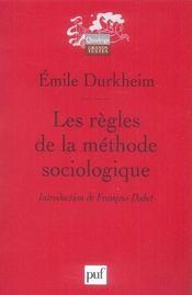 Les regles de le methode sociologique 13e edition - Intérieur - Format classique