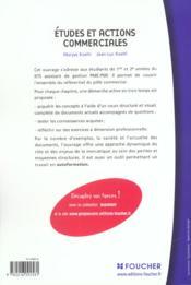 Etudes Et Actions Commerciales Bts Pme-Pmi ; Livre De L'Eleve - 4ème de couverture - Format classique