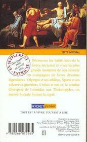 Recits Tires De L'Histoire Grecque - 4ème de couverture - Format classique