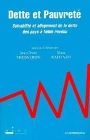Dette et pauvreté ; solvabilité et allégement de la dette des pays à faible revenu - Couverture - Format classique
