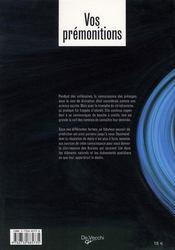 Vos prémonitions - 4ème de couverture - Format classique