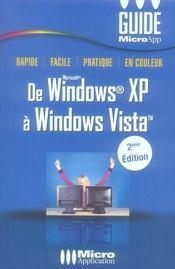 De windows xp à windows vista (2e édition) - Intérieur - Format classique